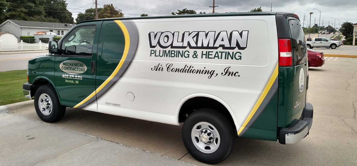 Volkman Plumbing, Heating, and Air Conditioning Air Conditioning Service Van