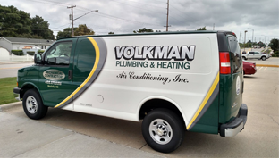 Volkman Service Van Parked In Parking Lot